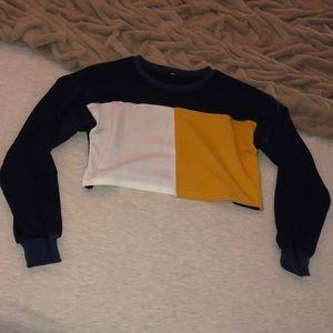 Sweaters - Cropped dark blue sweater